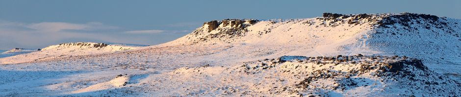 Winter landscape on the Peak District moors near Sheffield, where Peak Digital Training runs photography courses